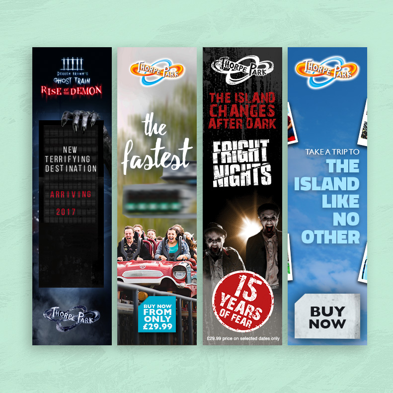 Thorpe Park Digital Banners