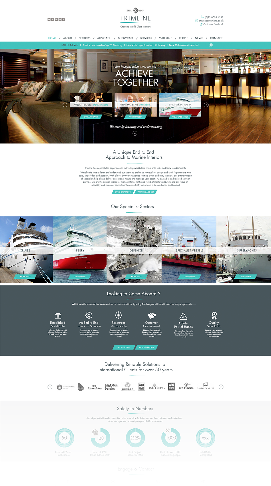 Trimline web design