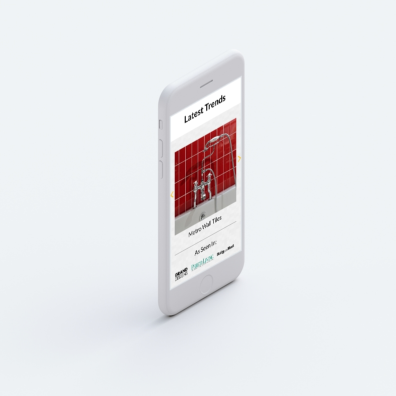 Target Tiles, mobile web design